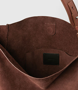 Donne Paradise North South Suede Tote (BRANDY/BRICK BROWN) - product_image_alt_text_5