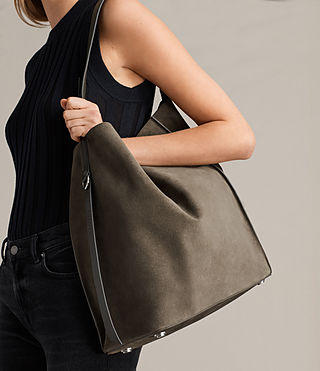 Women's Paradise North South Tote (MINK GREY) - product_image_alt_text_3