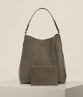 Women's Paradise North South Tote (MINK GREY) - product_image_alt_text_8