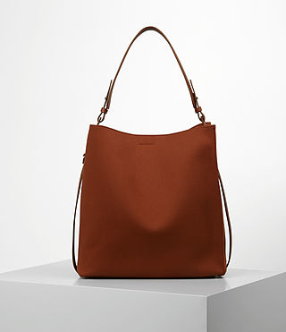 Womens Paradise Canvas North South Tote (BRICK BROWN)