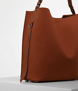 Damen Paradise Canvas North South Tote (BRICK BROWN) - product_image_alt_text_2