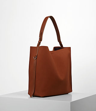 Damen Paradise Canvas North South Tote (BRICK BROWN) - product_image_alt_text_3