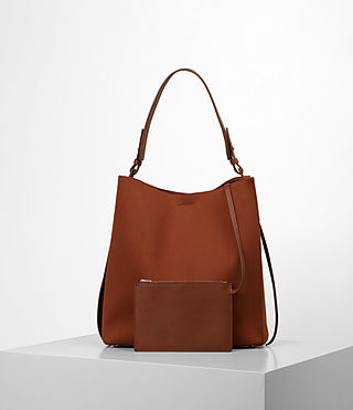 Damen Paradise Canvas North South Tote (BRICK BROWN) - product_image_alt_text_5