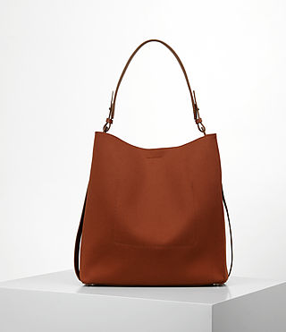 Damen Paradise Canvas North South Tote (BRICK BROWN) - product_image_alt_text_6
