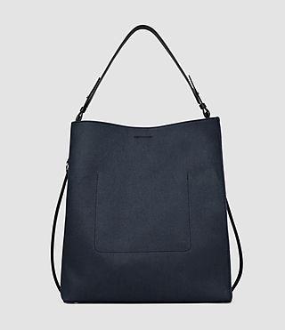 Women's Paradise Canvas North South Tote (PETROL BLUE/BLACK) - product_image_alt_text_2