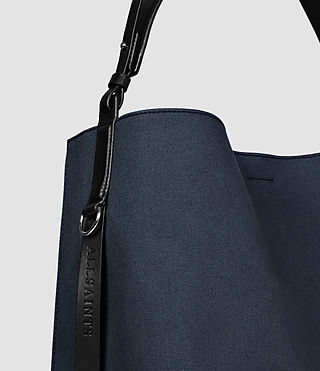 Women's Paradise Canvas North South Tote (PETROL BLUE/BLACK) - product_image_alt_text_5