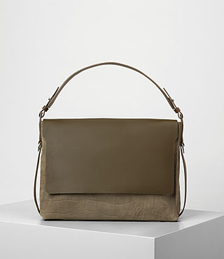 Damen Paradise Satchel Bag (Dark Khaki Green)