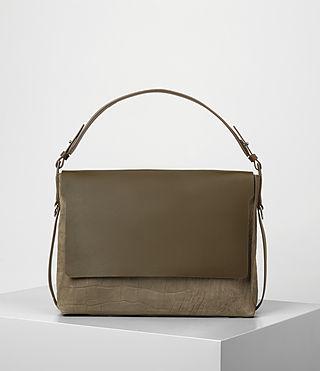 Donne Paradise Satchel Bag (Dark Khaki Green) -