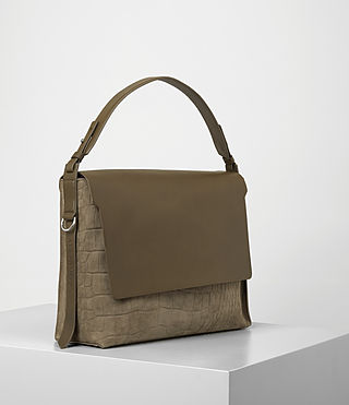Women's Paradise Satchel Bag (Dark Khaki Green) - product_image_alt_text_3