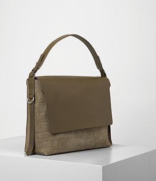 Donne Paradise Satchel Bag (Dark Khaki Green) - product_image_alt_text_3