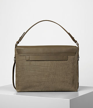 Damen Paradise Satchel Bag (Dark Khaki Green) - product_image_alt_text_5