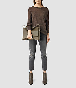 Damen Paradise Satchel Bag (Dark Khaki Green) - product_image_alt_text_6