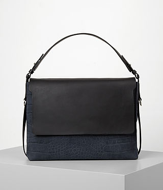 Damen Paradise Satchel Bag (PETROL BLUE/BLACK)