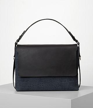Donne Paradise Satchel Bag (PETROL BLUE/BLACK) -