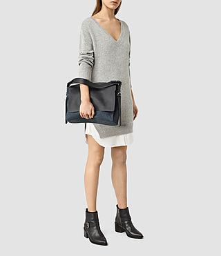 Donne Paradise Satchel Bag (PETROL BLUE/BLACK) - product_image_alt_text_6