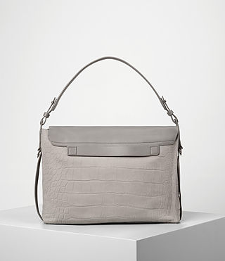 Donne Paradise Satchel Bag (LIGHT GRY/MID GREY) - product_image_alt_text_6