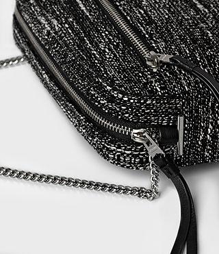 Womens Fleur De Lis Tweed Crossbody (Black/White) - product_image_alt_text_4