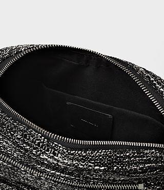 Womens Fleur De Lis Tweed Crossbody (Black/White) - product_image_alt_text_5
