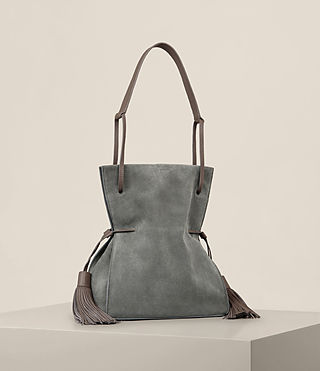 Donne Borsa bucket scamosciata Freedom (Smoke Grey) - product_image_alt_text_6