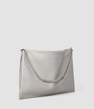 Damen Fleur De Lis Large Hobo Bag (Light Grey) - product_image_alt_text_2