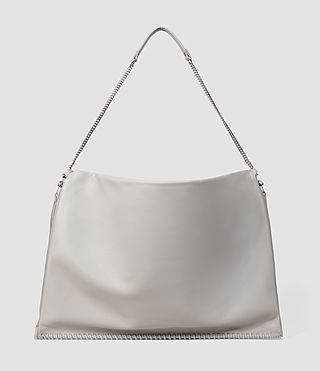 Mujer Fleur De Lis Chain Shoulder Hobo (Light Grey) - product_image_alt_text_3
