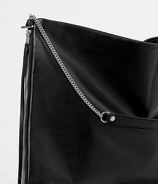 Damen Fleur De Lis Large Hobo Bag (Black) - product_image_alt_text_2