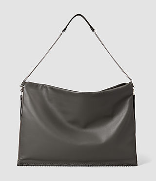 Femmes Fleur De Lis Large Hobo Bag (Dark Grey) - product_image_alt_text_2