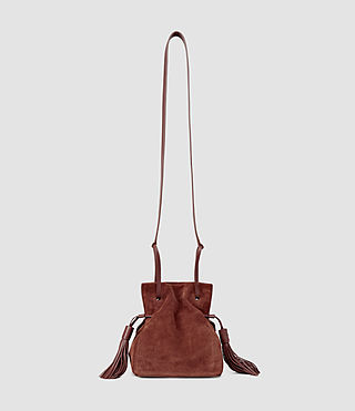 Womens Freedom Mini Bucket Bag (BRICK BROWN)