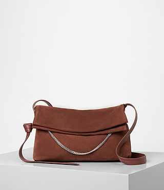 Donne Lafayette Medium Shoulder Bag (BRICK BROWN)