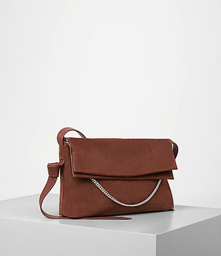 Women's Lafayette Medium Shoulder Bag (BRICK BROWN) - product_image_alt_text_2