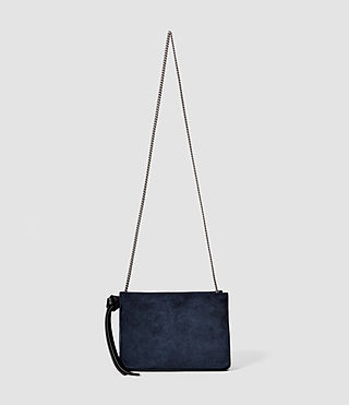 Mujer Lafayette Clutch Bag (PETROL BLUE/BLACK)