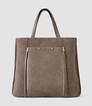 Mujer Fleur De Lis Braid North/South Tote (Almond/Taupe) - product_image_alt_text_2