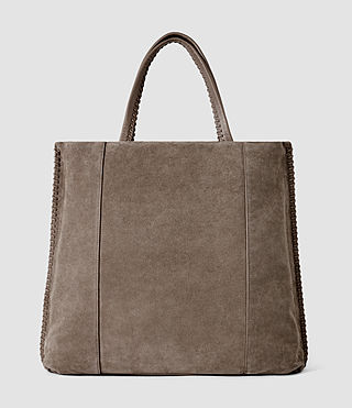 Mujer Fleur De Lis Braid North/South Tote (Almond/Taupe) - product_image_alt_text_3