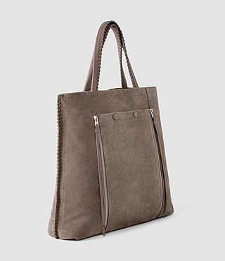 Mujer Fleur De Lis Braid North/South Tote (Almond/Taupe) - product_image_alt_text_4
