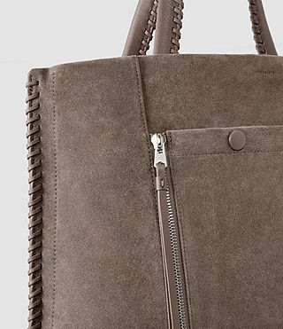 Mujer Fleur De Lis Braid North/South Tote (Almond/Taupe) - product_image_alt_text_5