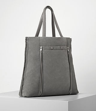 Women's Fleur De Lis North South Tote (Mid Grey) - product_image_alt_text_3