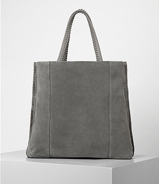 Women's Fleur De Lis North South Tote (Mid Grey) - product_image_alt_text_4
