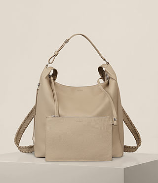 Womens Kita Backpack (LIGHT TAUPE GREY) - product_image_alt_text_8