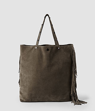 Womens Lea Fringes Bag (Caribou)