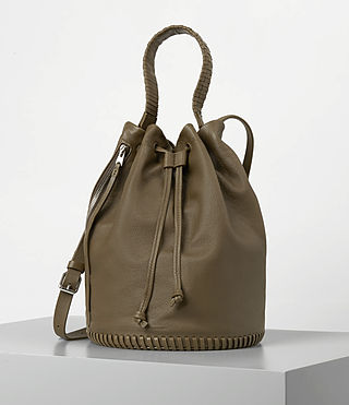 Damen Club Bucket Bag (Dark Khaki Green)