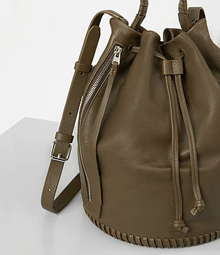 Damen Club Bucket Bag (Dark Khaki Green) - product_image_alt_text_2