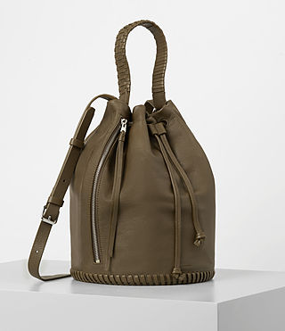 Damen Club Bucket Bag (Dark Khaki Green) - product_image_alt_text_3