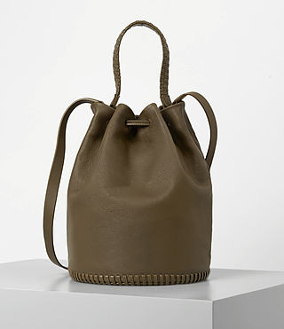 Damen Club Bucket Bag (Dark Khaki Green) - product_image_alt_text_5