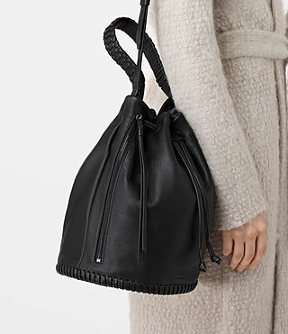 Women's Club Bucket Bag (Black) - product_image_alt_text_2
