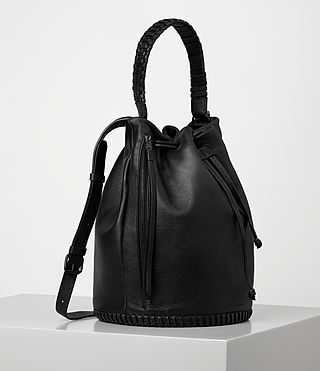 Women's Club Bucket Bag (Black) - product_image_alt_text_4