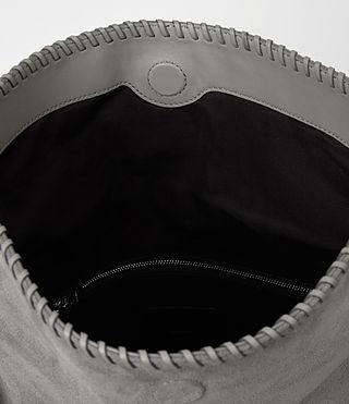 Women's Fleur De Lis Foldover Bag (Mid Grey) - product_image_alt_text_4
