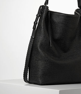 Womens Kita Large Tweed North South Tote (Black) - product_image_alt_text_3