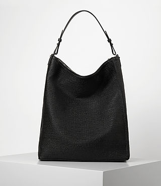 Womens Kita Large Tweed North South Tote (Black) - product_image_alt_text_6