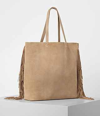Women's Club New Lea Fringe Tote (Sand) - product_image_alt_text_3
