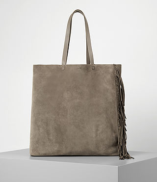 Donne Club New Lea Fringe Tote (Almond/Taupe)